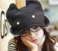 供应超Q可爱卡通潮人兔兔帽子/兔子毛绒保暖帽(灰色)