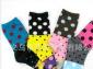 供应韩国袜子批发/ 可爱糖果色袜子 棉袜女袜3段点点