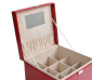 供应开馨宝鳄鱼纹手提式加大格首饰盒/饰品盒/收纳盒-大红色